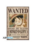 One Piece - Set 2 pósters Wanted Luffy y Ace (52x38)