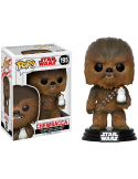 FIGURA POP CHEWBACCA WITH PORG - STAR WARS