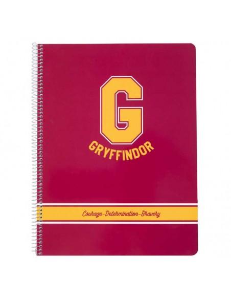Libreta escolar A4 Gryffindor logo G - Harry Potter