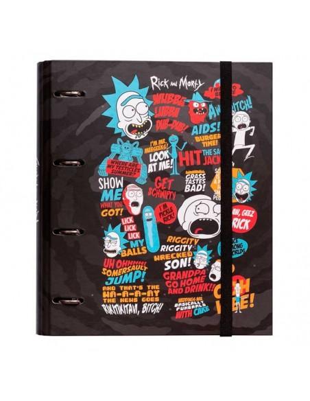 Carpeta 4 anillas Rick y Morty