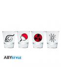 """Set 4 vasos de chupito """"Emblem"""" - Naruto"""