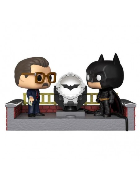 Funko POP! Batman y Gordon con Batseñal luminosa - Batman 80 aniversario