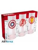 Set 3 vasos Vengadores, Capitán América y Iron Man - Marvel