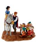 Figura Blancanieves, el príncipe y los siete enanitos Disney Enchanting Collection -